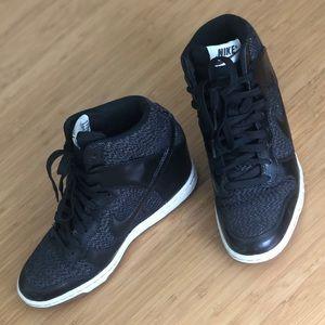 Nike black sneaker wedges